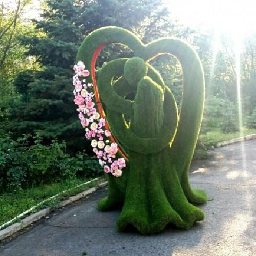 Топиарная фигура в сердце навсегда для загородного дома