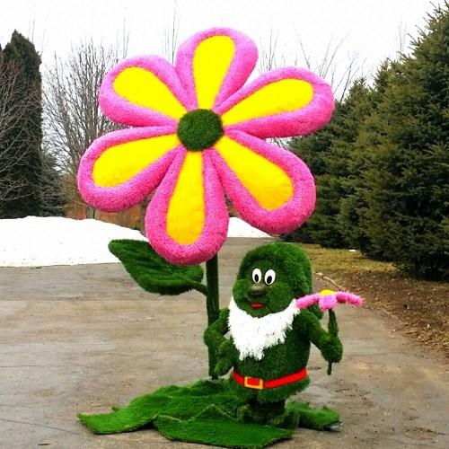 Садовая фигура цветок для дачи и сада
