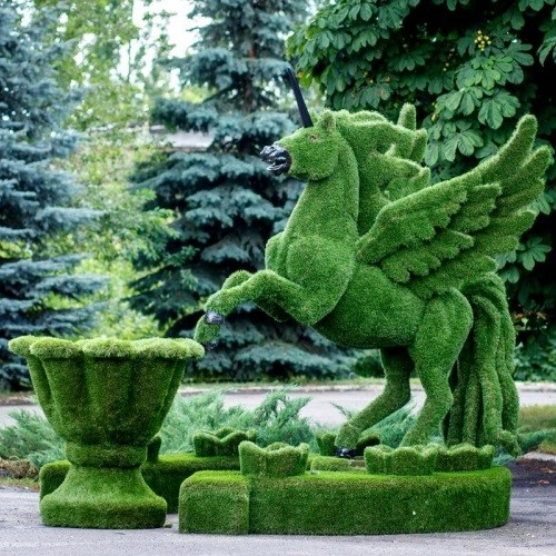 Садовая фигура Единорог фото с размерами