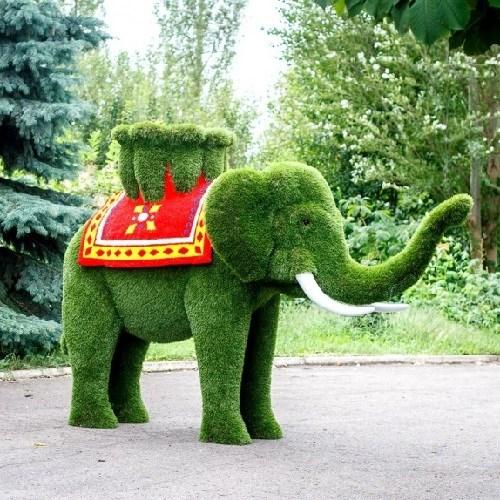 Садовая фигура Слон для дачи