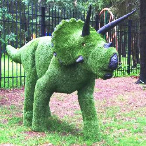 Топиарная фигура Динозавр для  загородного дома