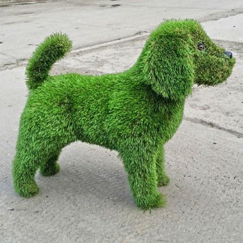 Топиарная фигура Собачка для дачии загородного дома
