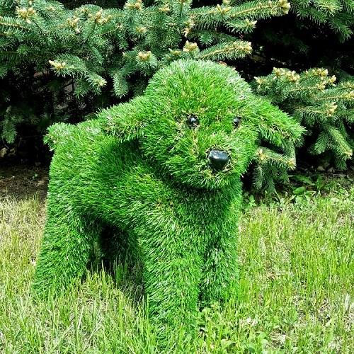 Фигура из искусственной травы Ягненок фото с размером