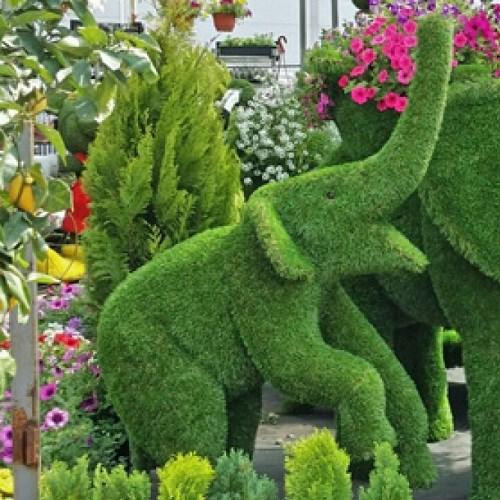 Фигура из искусственной травы для парковой  зоны