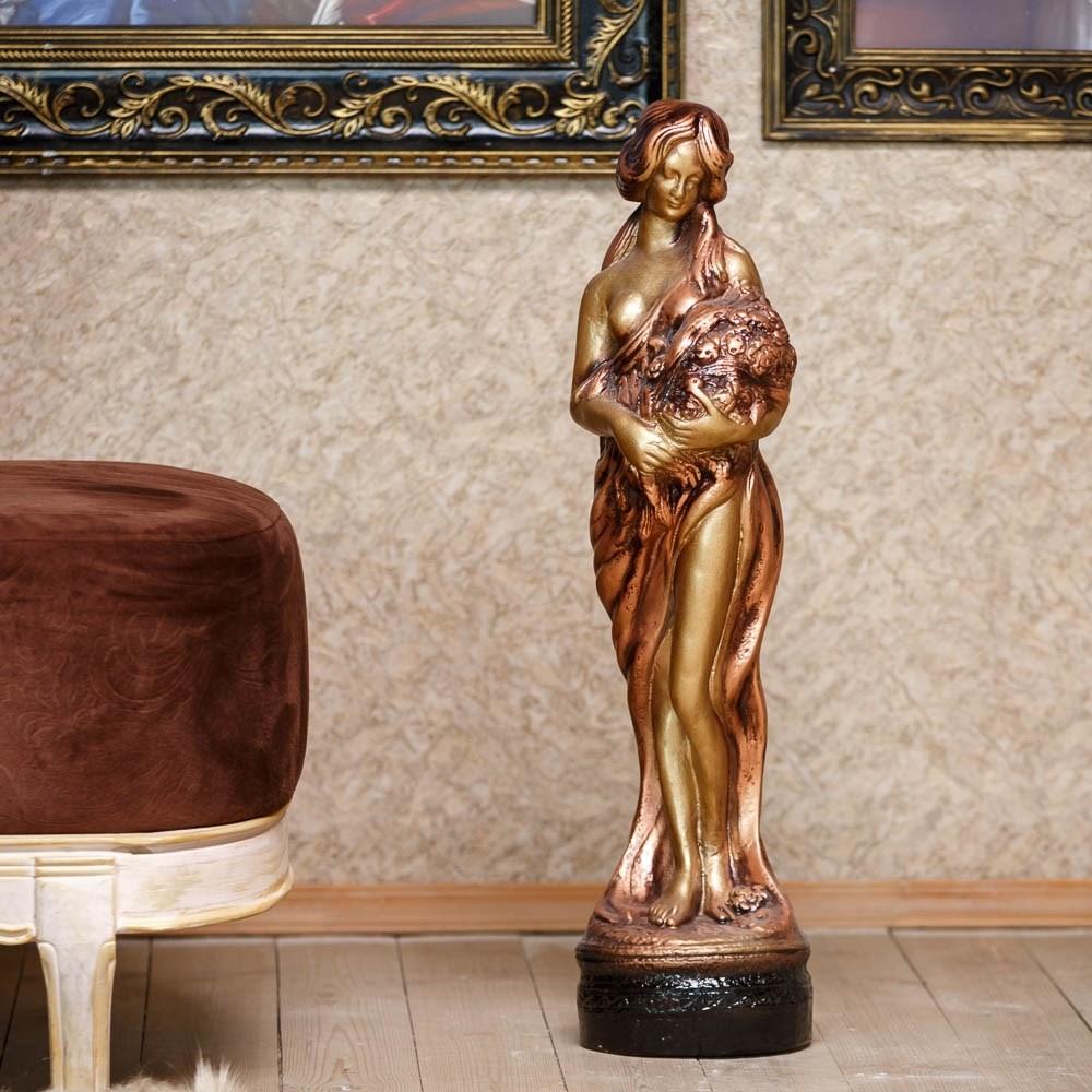 Скульптура девушка с цветами F03003-M