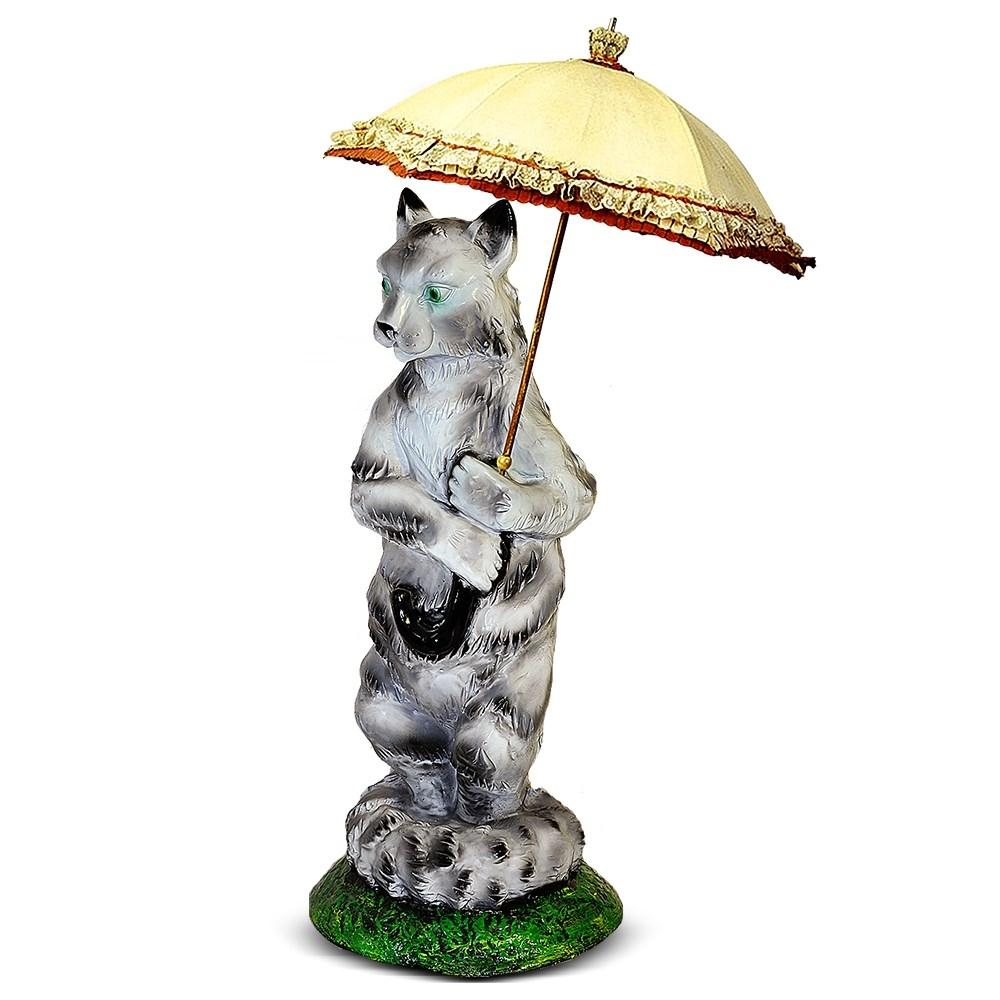 Кошка с зонтиком