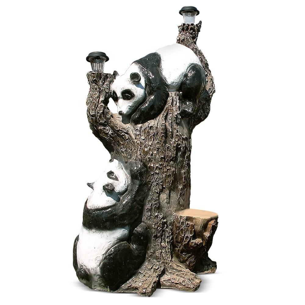 Садовый светильник Дерево с пандами - фото 27976