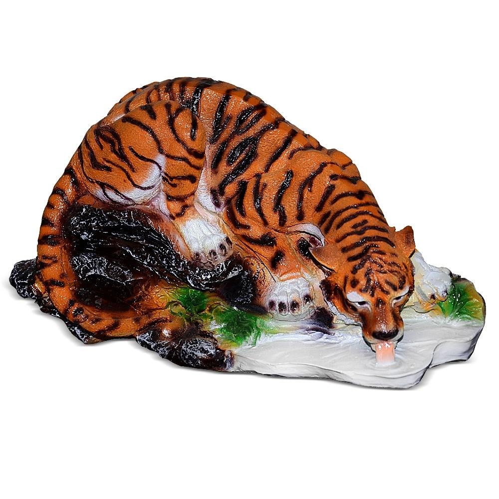 Садовая фигура Тигр на водопое F01299