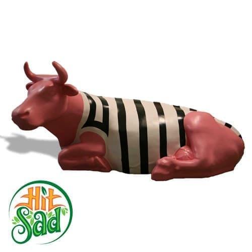 Корова в тельняжке