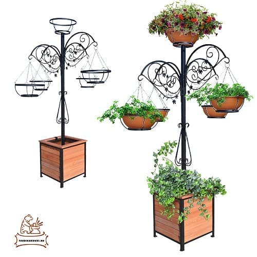Уличная стойка для цветов