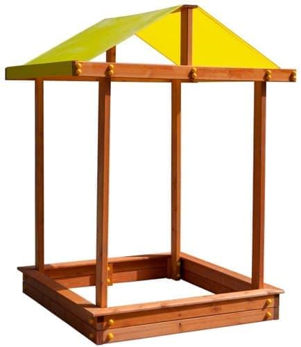 Детская песочница с крышей