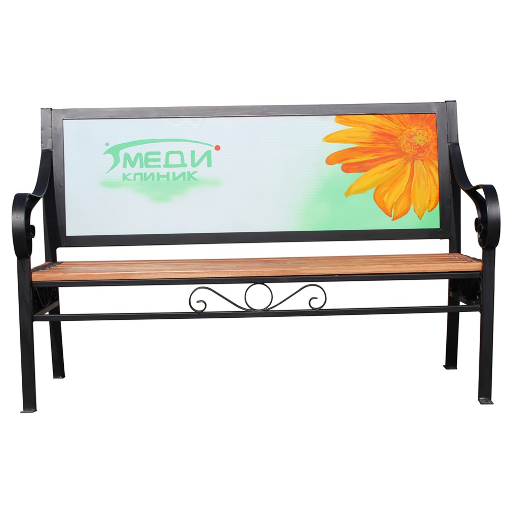 Рекламная скамейка - фото 9590