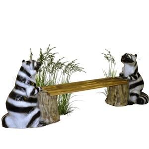 Лавка садовая Енот на пне