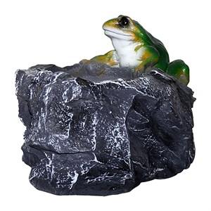 Кашпо Камень с лягушкой F04036