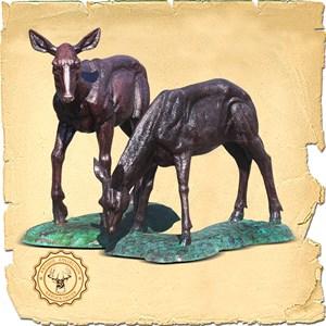 Парковая скульптура Олененок U07659