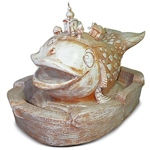 Садовый фонтан Рыба Кит