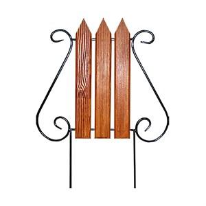 Кованый секционный забор с деревом (3 штакетины)