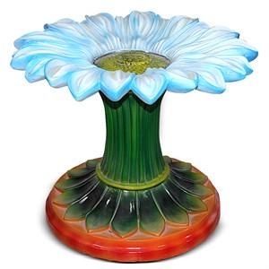 Стол со стеклянной столешницей Цветок