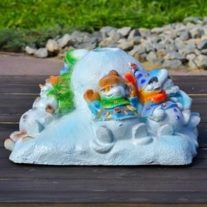 Елочная подставка Снеговики на горке