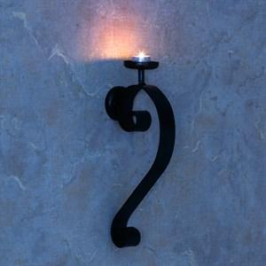 Настенный подсвечник на одну свечу из металла