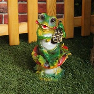 Садовая фигура лягушка со скрипкой