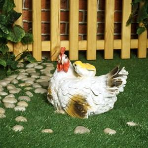 Фигура для сада курица с цыпленком