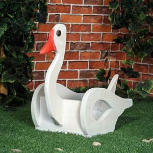 Кашпо лебедь