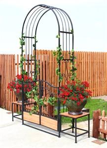 Садовая арка с калиткой