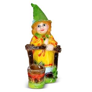 Садовая фигура Гном девочка