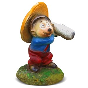 Садовая фигура Ежик с грибом