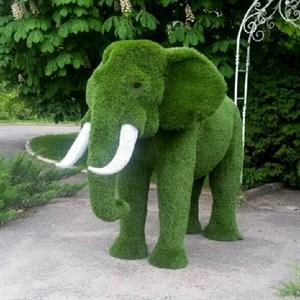 Садовая фигура слон африканский для парка и загородного участка