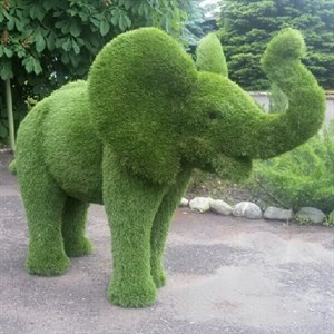 Садово-парковая фигура слоник ушастый фото с размерами