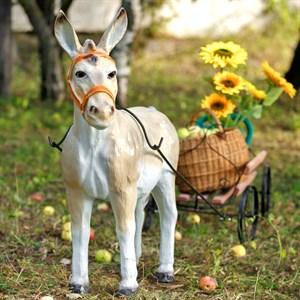 Садовая фигура Осел с телегой