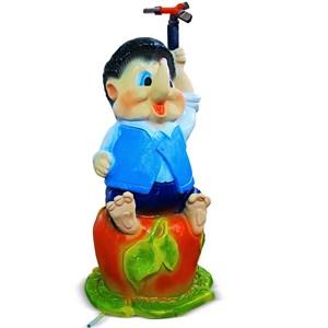 Садовая фигура Поливалка Еж на яблоке