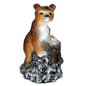 Фигура из полистоуна Медвежонок у пня