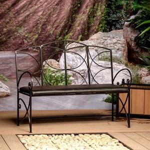 Садовый диван из металла