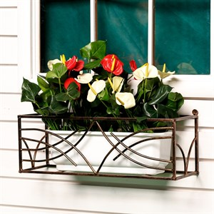 Кованый кронштейн для цветочных горшков