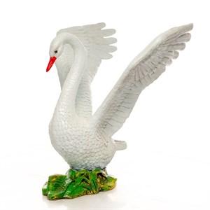 Фигура для сада лебедь