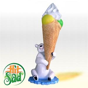 Мишка с мороженым