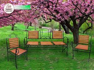 Садовая кованая мебель