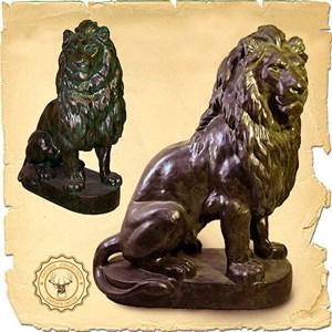 Парковая фигура Льва
