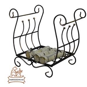Кованая дровница для камина