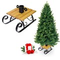 Подставка под елку из металла и дерева