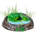 Крышка люка Лягушки в пруду - фото 11820