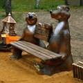 Детская скамейка Медведи