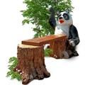 Скамейка для дачи Панда - фото 13667