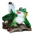 Декоративная фигура Лягушка с книгой - фото 13720