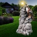 Садовый фонарь орел на скале