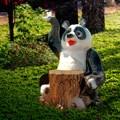 Садовый светильник Панда - фото 13794