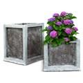 Кашпо квадратное для сада - фото 14105
